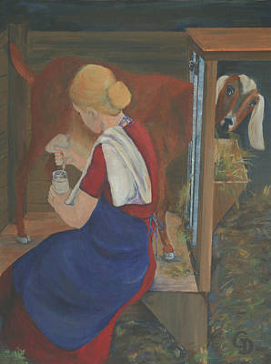 Milkmaid Art Print by Gail Daley