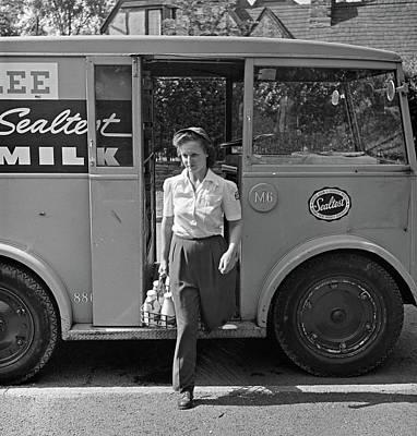 Milkman, 1943 Art Print by Granger