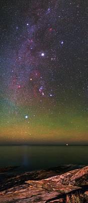 Sirius Photograph - Milky Way Over An Atlantic Coastline by Babak Tafreshi