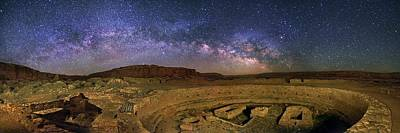 Milky Way Over Chaco Canyon Ruins Art Print by Walter Pacholka, Astropics