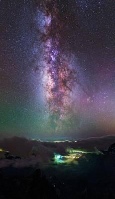 Milky Way Over La Palma Art Print