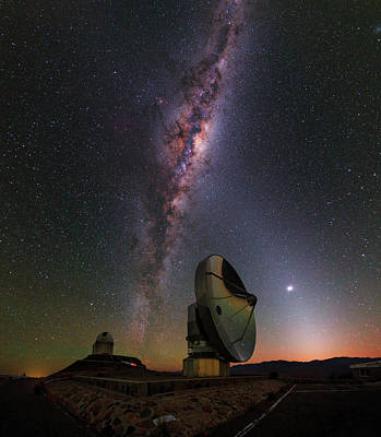 La Galaxy Photograph - Milky Way Over La Silla Observatory by Babak Tafreshi
