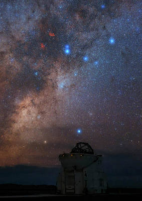 Milky Way Over Paranal Observatory Art Print by Babak Tafreshi