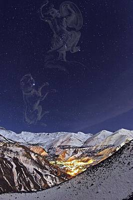 Milky Way Over The Alborz Mountains, Art Print
