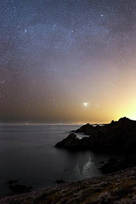 Milky Way Over The Coast Art Print