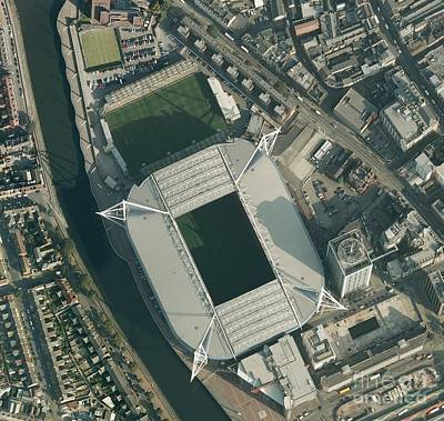 Rugby Union Photograph - Millennium Stadium, Cardiff,aerial View by Getmapping plc