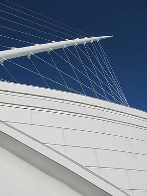Photograph - Milwaukee Art Museum Closeup 4 by Anita Burgermeister