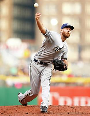 Photograph - Milwaukee Brewers V Pittsburgh Pirates by Jared Wickerham