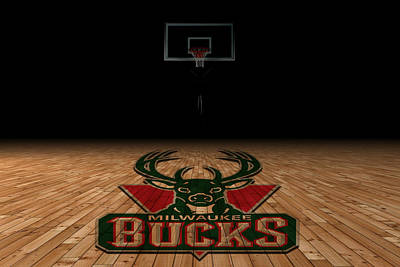 Milwaukee Bucks Art Print by Joe Hamilton