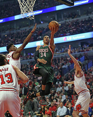 Chicago Photograph - Milwaukee Bucks V Chicago Bulls - Game by Jonathan Daniel