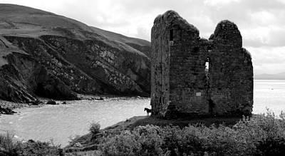 Minard Castle In Kerry Art Print by Barbara Walsh