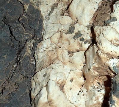 Mineral Veins On Mars Art Print by Nasa/jpl-caltech/msss