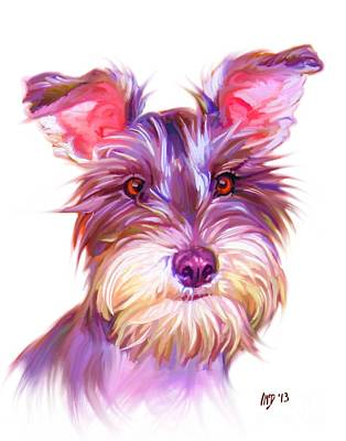 Miniature Schnauzer Puppy Digital Art - Miniature Schnauzer Art by Iain McDonald