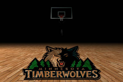 Minnesota Timberwolves Art Print by Joe Hamilton