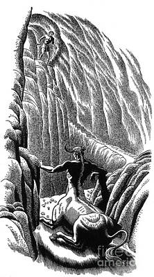 Minotaur Photograph - Minotaur, Legendary Creature by Photo Researchers
