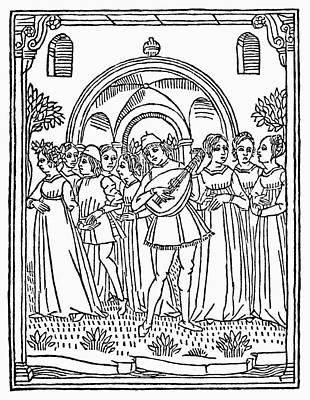 Minstrel, 1492 Art Print