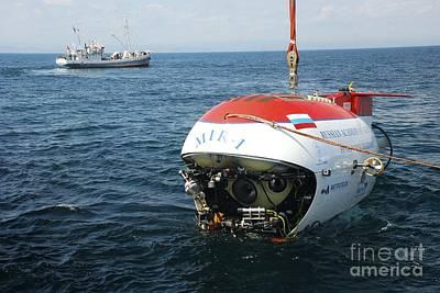 Mir-1 Submersible At Lake Baikal Art Print by RIA Novosti