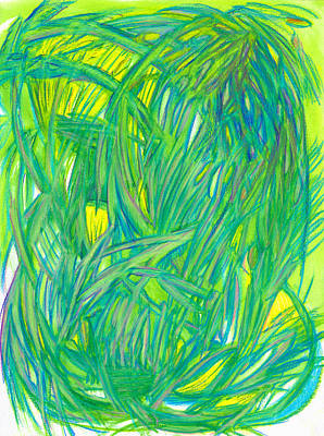 Abstract Movement Drawing - Miracles by Kelly K H B