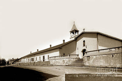 Photograph - Mission San Luis Obispo Circa 1890 by California Views Archives Mr Pat Hathaway Archives