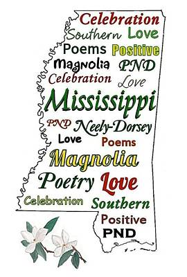 Mississippi Magnolia Love Art Print by Patricia Neely-Dorsey