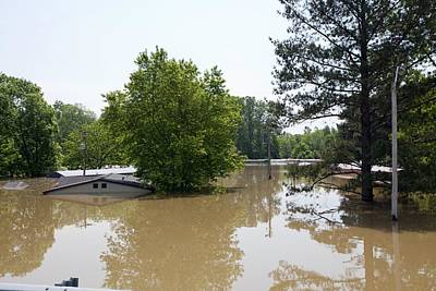 Flooding Photograph - Mississippi River Floods, 2011 by Science Photo Library