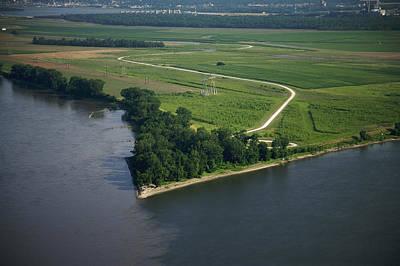 Photograph - Mississippi River Meets Missouri River by Byron Jorjorian