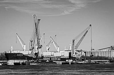 Photograph - Mississippi River Shipping by Andy Crawford