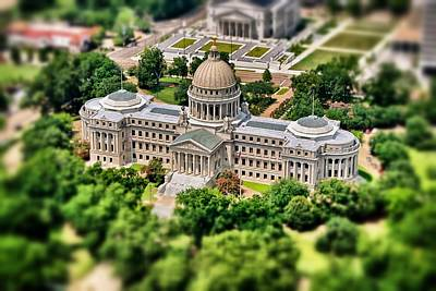 Photograph - Mississippi State Capitol Aerial by Jim Albritton