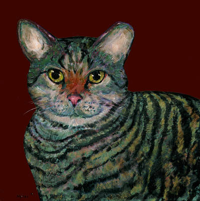 Missoni Painting - Missoni Cat by Dale Moses