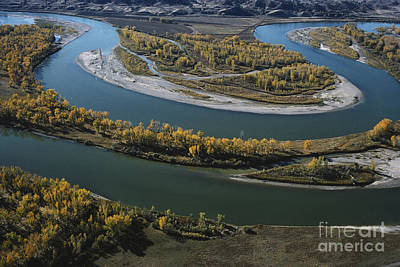 Missouri And Yellowstone Rivers Art Print by Farrell Grehan