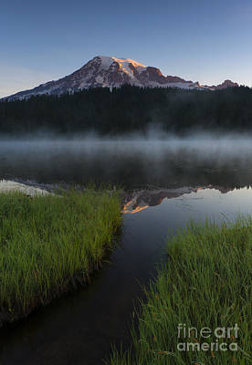 First Light Photograph - Misty Majesty by Mike Dawson