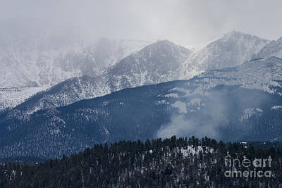 Steven Krull Royalty-Free and Rights-Managed Images - Misty Pikes Peak by Steven Krull