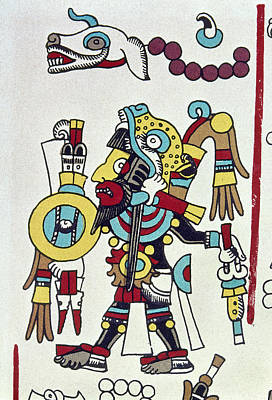 Native American Symbols Painting - Mixtec Ruler Eight Deer by Granger