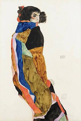 Moa Drawing - Moa by Egon Schiele
