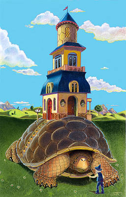 Turtle Mixed Media - Mobile Home by J L Meadows