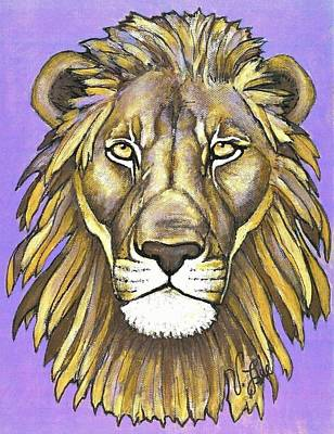 Painting - Mod Male Lion by VLee Watson