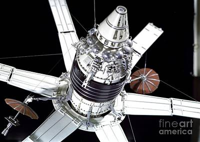 Comsats Photograph - Model Of Russian Molniya-1 Satellite by RIA Novosti