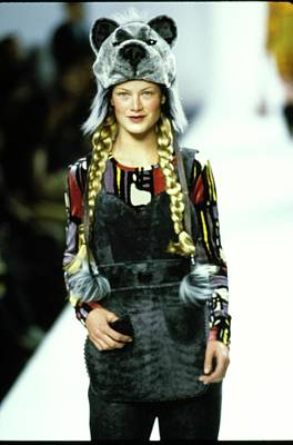 Fashion Show Photograph - Model On A Runway For Anna Sui by Guy Marineau