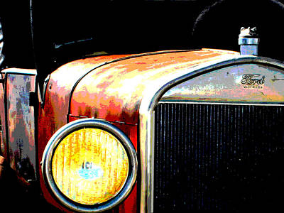 Model T Ford Roadster Pickup Truck Art Print by Copyright -  Gayland Isley