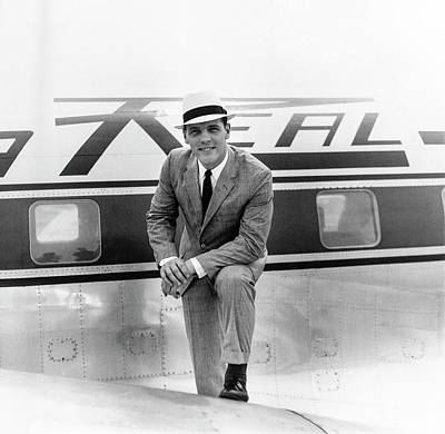 Passenger Plane Photograph - Model Wearing A Deansgate Suit by Richard Waite