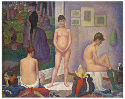 Models Art Print by Georges Seurat