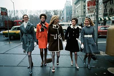 Fashion Photograph - Models Wearing Coats by William Connors