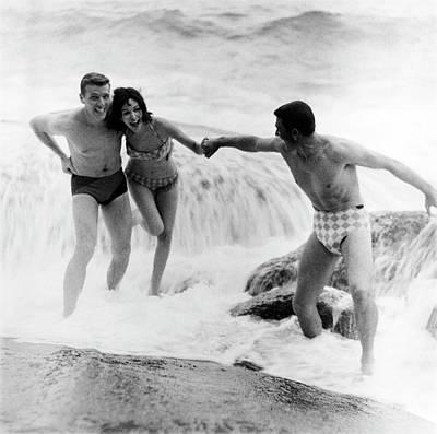 Photograph - Models Wearing Swimwear by Richard Waite