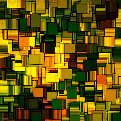 Rectangles Digital Art - Modern Abstract Xxi by Lourry Legarde