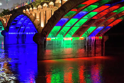 Anhui Photograph - Modern Bridge With Multicolored by Darrell Gulin