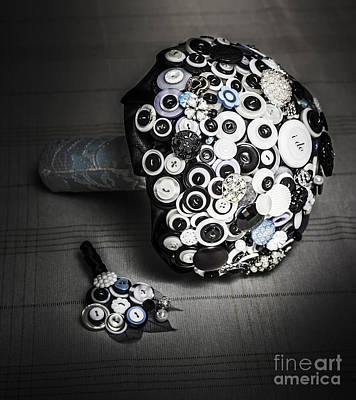 Handmade Icon Photograph - Modern Button Design Wedding Bouquet by Jorgo Photography - Wall Art Gallery