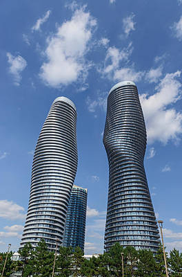 Photograph - Modern Condos In Mississauga Ontario Canada by Marek Poplawski