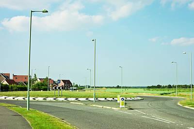 Streetlight Photograph - Modern Road by Tom Gowanlock