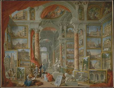 Giovanni Paolo Panini Painting - Modern Rome by Giovanni Paolo Panini