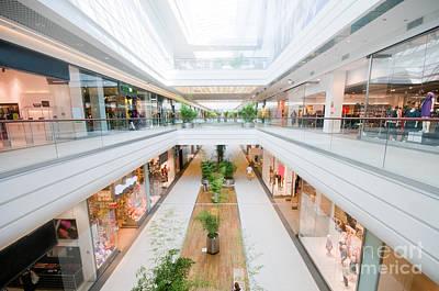Escalator Photograph - Modern Shopping Mall by Michal Bednarek